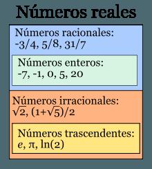 ¿Cuales son los números reales?